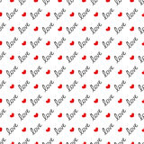 Seamless pattern love Royalty Free Stock Images