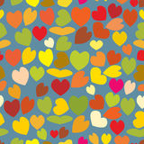 Seamless pattern of love hearts, Valentine`s Day, , background in pretty colors Stock Photos