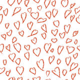 Seamless pattern of love hearts, Valentine`s Day, , background in pretty colors Stock Photography