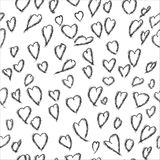 Seamless pattern of love hearts, Valentine`s Day, , background in pretty colors Stock Images