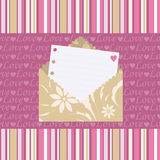 Seamless pattern with love letters Royalty Free Stock Photos