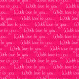 Seamless pattern with love message Royalty Free Stock Images
