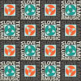 Seamless pattern Love music. Retro seamless pattern. Сheckered, minimalism Royalty Free Stock Image