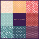 Seamless pattern love set Stock Photos
