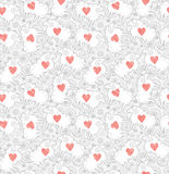 Seamless pattern love sheep. Seamless pattern love sheep on the flower field Royalty Free Stock Images