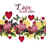 Seamless pattern of love Stock Photo