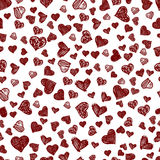 Seamless pattern with love for you. Stock Image