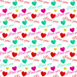 Seamless pattern love you Royalty Free Stock Photo