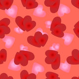 Seamless pattern of loving hearts of Valentines day Stock Image