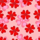 Seamless pattern of loving hearts of Valentines day Stock Photography