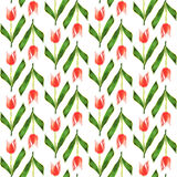 Seamless pattern. Low poly flower tulip. Vector background. Seamless pattern. Low poly flower tulip Royalty Free Stock Images