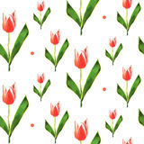 Seamless pattern. Low poly flower tulip. Vector background. Seamless pattern. Low poly flower tulip. Vector background card Stock Photo