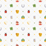 Seamless pattern with Lucky Charms Stock Photo