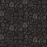 Seamless pattern with lumberjack's elements. Royalty Free Stock Photos