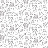 Seamless pattern with lumberjack's elements. Royalty Free Stock Image