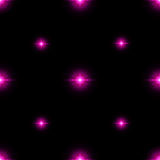 Seamless pattern of luminous stars. Illusion of light flashes. Pink flames on a black background. Abstract background. Vector illustration Royalty Free Stock Photo