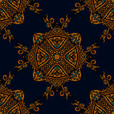Seamless pattern luxury fabric Stock Images
