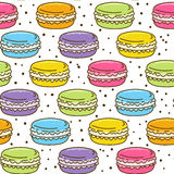 Seamless pattern with macarons Stock Photography