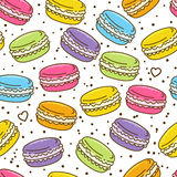 Seamless pattern with macarons Royalty Free Stock Images