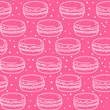 Seamless pattern with macarons Royalty Free Stock Photos