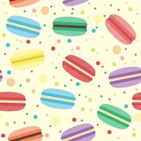 Seamless pattern with macarons Royalty Free Stock Photography
