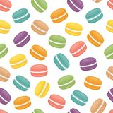Seamless pattern with macaroons. Colorful macarons cake. Flat st vector illustration