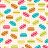 Seamless pattern of macaroons Stock Photography