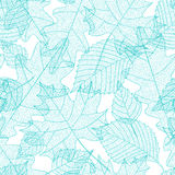 Seamless pattern with macro leaves skeletons Stock Photo