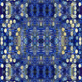 Seamless pattern made from Abstract blue grunge Royalty Free Stock Images