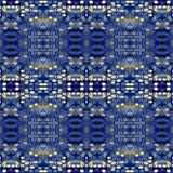 Seamless pattern made from Abstract blue grunge Royalty Free Stock Image