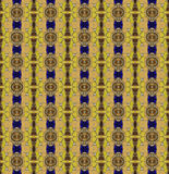 Seamless pattern made from asian traditional bowl lid and yellow. Stone for use as background texture Vector Illustration