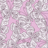 Seamless pattern. Made of butterflies Royalty Free Stock Images