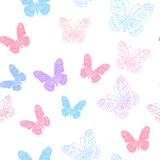 Seamless pattern. Made of butterflies Stock Images