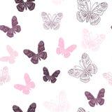Seamless pattern made of butterflies Stock Photos