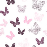 Seamless pattern made of butterflies Stock Images