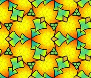 Seamless pattern made of colored leaves. Royalty Free Stock Images