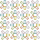 Seamless pattern made of colorful mobile phone, bright colors Stock Photography
