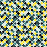 Seamless pattern made of colorful rhombuses with white lining. Seamless pattern made of colorful blue, yellow and blue rhombuses with white lining Royalty Free Stock Photos