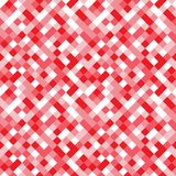 Seamless pattern made of colorful squares in shades of pink, red Stock Image