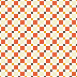Seamless pattern made of colorful squres - tan, orange, red and Stock Photos
