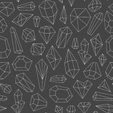 Seamless pattern made of crystals Stock Images