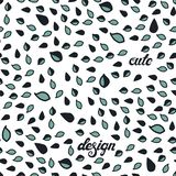 Seamless pattern made of doodle drops and lettering. royalty free illustration