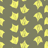 Seamless pattern made from ducks trails. Vector trails of duck. Stock Photo