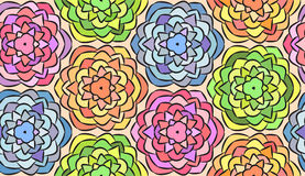 Seamless pattern made from flowers. Seamless pattern made from graphic flowers Royalty Free Stock Photography