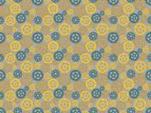 Pattern made of gears Royalty Free Stock Photography