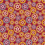 Pattern made of gears Stock Photography