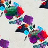 Seamless pattern made by hand drawn paint strokes. royalty free stock photography