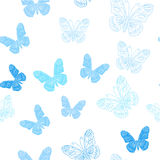Seamless pattern made of ice butterflies Royalty Free Stock Photos