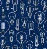Seamless pattern made of light bulbs Stock Photo