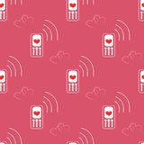 Seamless Pattern made with Mobile Devices Stock Images